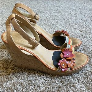 Coach Cork Wedge Heels Morgan Ankle Straps